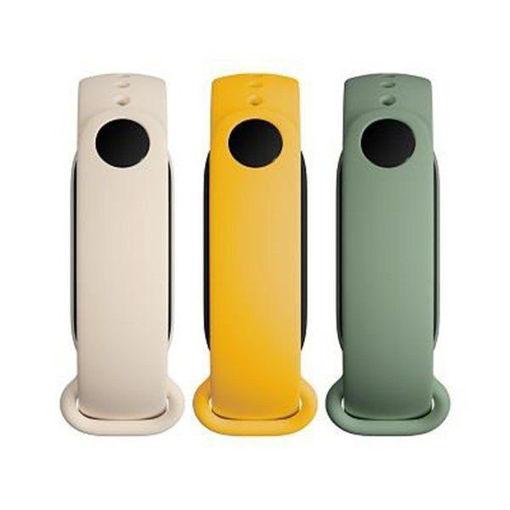 صورة شاومي ستراب لساعة بي باند 6 (3 قطع) - أصفر/أبيض/أخضر