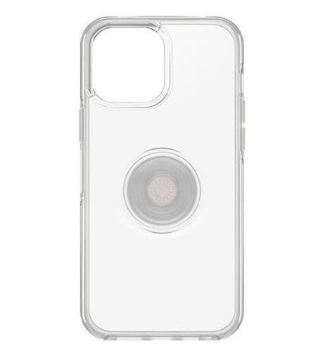 صورة أوتر بوكس سيميتري كفر مدمج به مسكة بوب سوكيت للأيفون 13 برو ماكس - شفاف