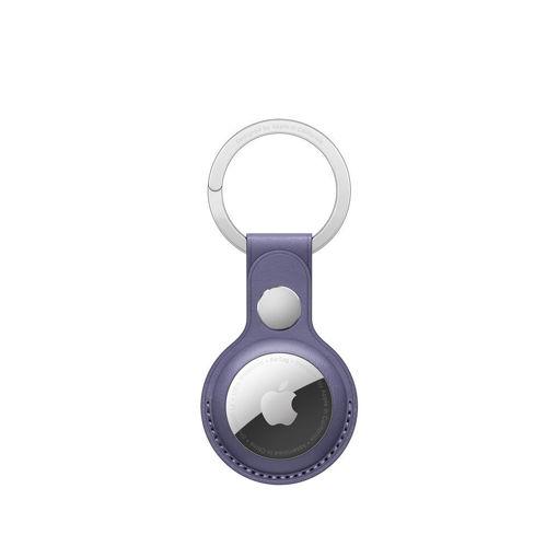 صورة أبل حاملة جلد لجهاز التتبع مع حامل للمفاتيح - بنفسجي