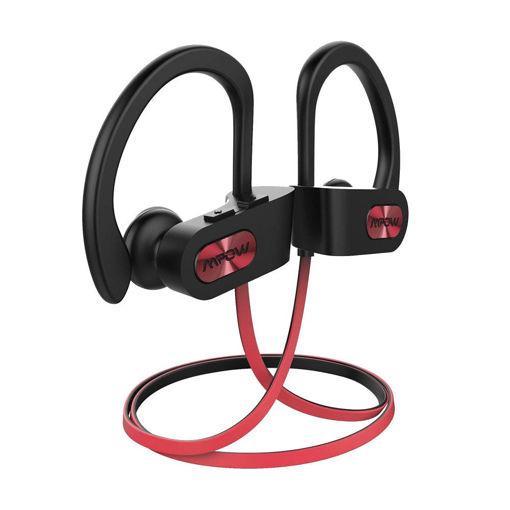 صورة إمباو سماعة أذن رياضية لاسلكية - أسود/أحمر