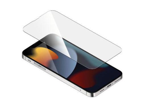 صورة توري حماية شاشة مع طلاء مضاد للبكتيريا للأيفون 13 برو ماكس - شفاف